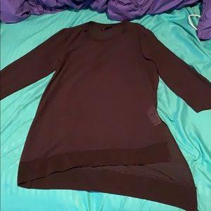 Mesh mid sleeve midi dress shirt